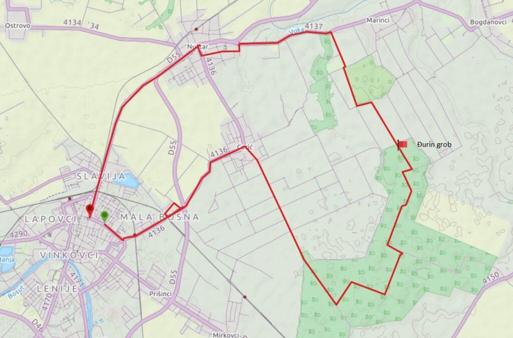 karta Đurin grob