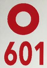 markacija oznaka puta 601